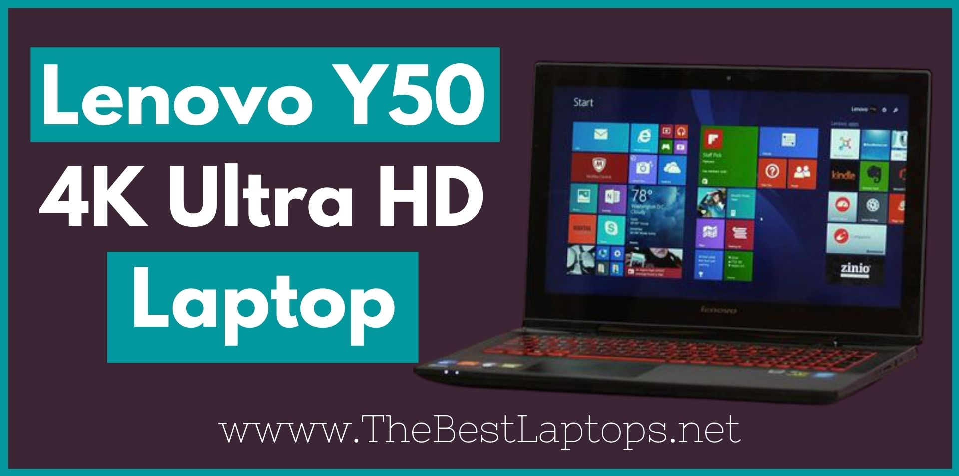 Lenovo Y50 4K Ultra HD Laptop