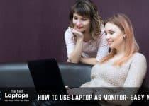laptop monitor